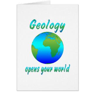La geología abre los mundos felicitaciones