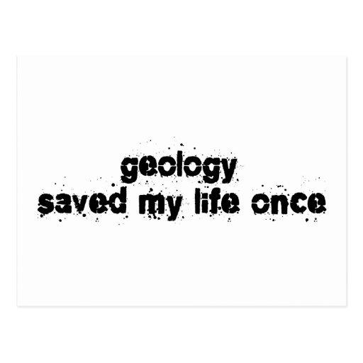 La geología ahorró mi vida una vez postal