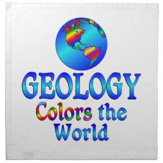 La geología colorea el mundo servilletas de papel