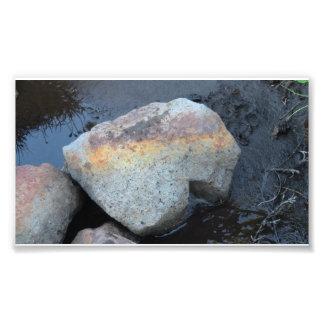La geología del Mt Jefferson Oregon oscila la pied Impresión Fotográfica