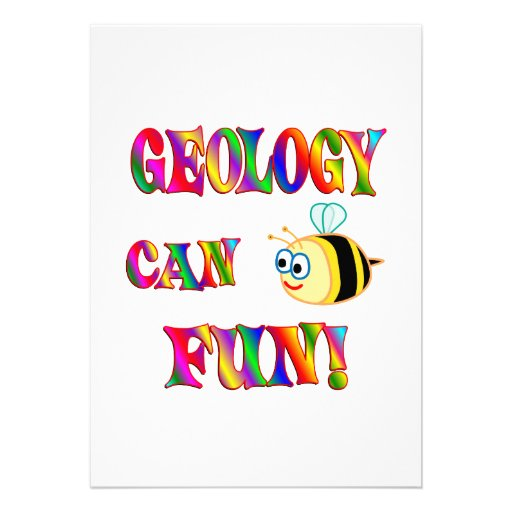 La geología es diversión anuncio personalizado