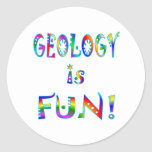 La geología es diversión pegatina redonda