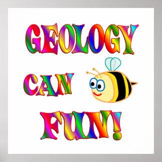 La geología es diversión poster