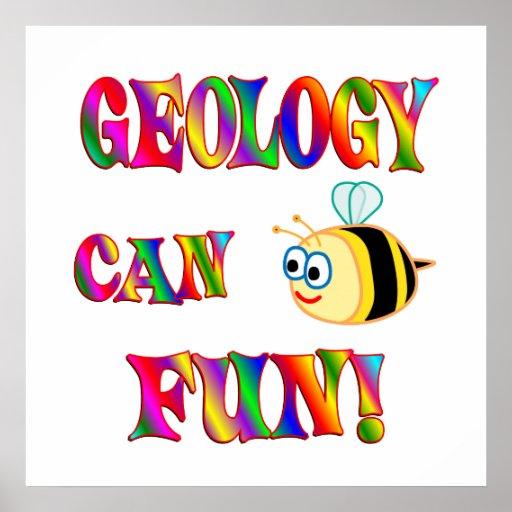 La geología es diversión póster