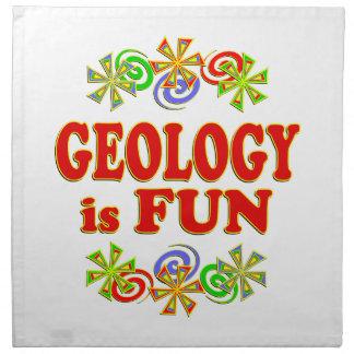 La geología es DIVERSIÓN Servilleta Imprimida
