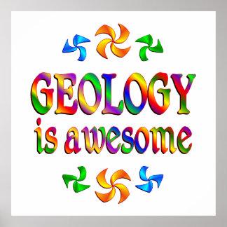 La geología es impresionante poster