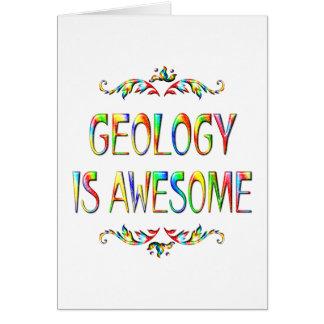 La geología es impresionante tarjeta