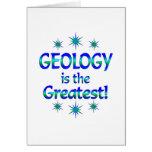 La geología es la más grande tarjeta