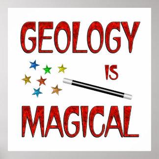 La geología es mágica poster