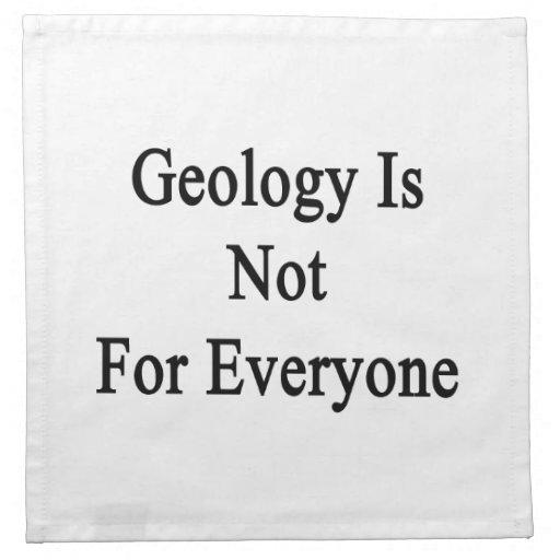 La geología no está para cada uno servilleta de papel