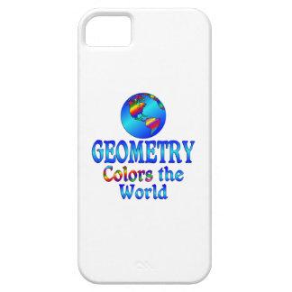 La geometría colorea el mundo iPhone 5 carcasa
