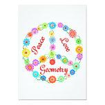 La geometría es ideal invitación 12,7 x 17,8 cm