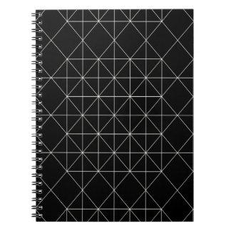 La geometría sagrada del templo cristalino spiral notebook