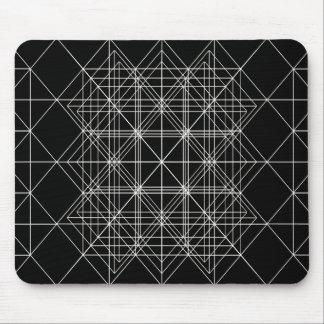 La geometría sagrada del templo cristalino tapetes de ratón