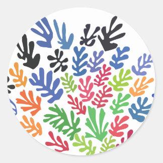 La Gerbe by Matisse Classic Round Sticker