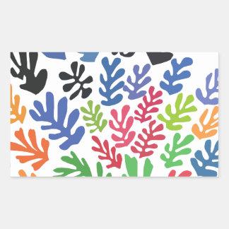 La Gerbe by Matisse Rectangular Sticker