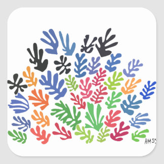 La Gerbe by Matisse Square Sticker