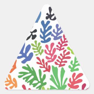 La Gerbe by Matisse Triangle Sticker