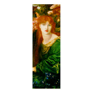 La Ghirlandata Bookmark by Dante Gabriel Rossetti Double-Sided Mini Business Cards (Pack Of 20)