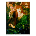 La Ghirlandata Cards by Dante Gabriel Rossetti