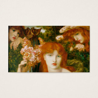 La Ghirlandata - Dante Gabriel Rossetti Business Card