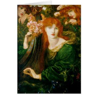 La Ghirlandata - Dante Gabriel Rossetti Card