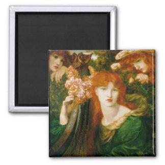 La Ghirlandata - Dante Gabriel Rossetti Refrigerator Magnet