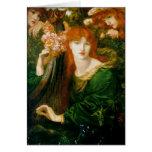 La Ghirlandata - Dante Gabriel Rossetti Tarjeta