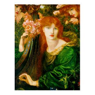 La Ghirlandata de Dante Gabriel Rossetti Postales
