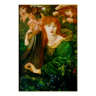 La Ghirlandata Poster by Dante Gabriel Rossetti