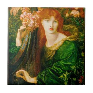 La Ghirlandata Pre-Raphaelite Ceramic Tile