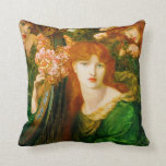 La Ghirlandata  Pre-Raphaelite Throw Pillow