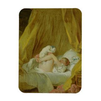 """""""La Gimblette"""", chica con un perro, c.1770 (aceite Iman"""