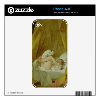 'La Gimblette', Girl with a Dog, c.1770 (oil on ca Decal For iPhone 4
