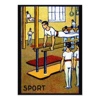 """La gimnasia de 1910 hombres invitación 5"""" x 7"""""""