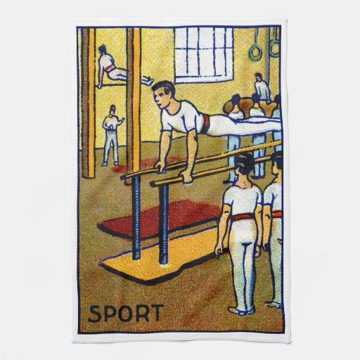La gimnasia de 1910 hombres toalla de cocina
