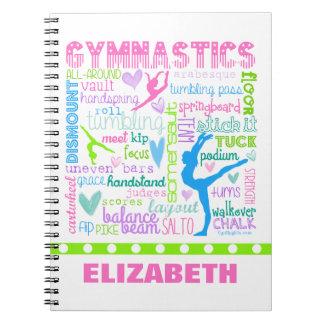 La gimnasia en colores pastel personalizada libros de apuntes