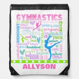La gimnasia en colores pastel personalizada mochilas