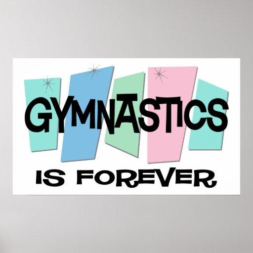 La gimnasia es Forever Póster