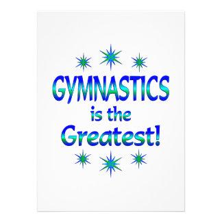 La gimnasia es la más grande invitaciones personalizada