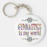 La gimnasia es mi mundo llavero personalizado