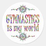 La gimnasia es mi mundo pegatinas