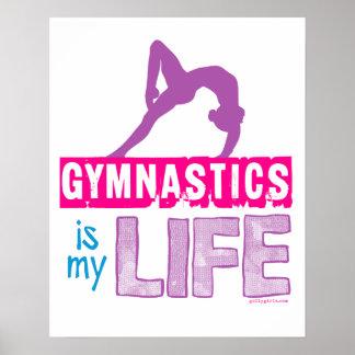 La gimnasia es mi vida póster