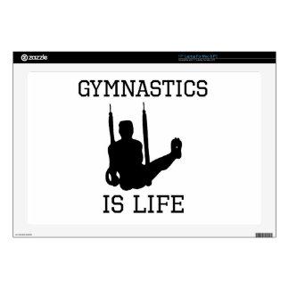 La gimnasia es vida calcomanía para portátil