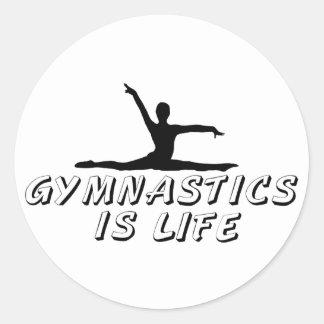 La gimnasia es vida etiqueta redonda