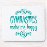 La gimnasia me hace feliz alfombrillas de ratón