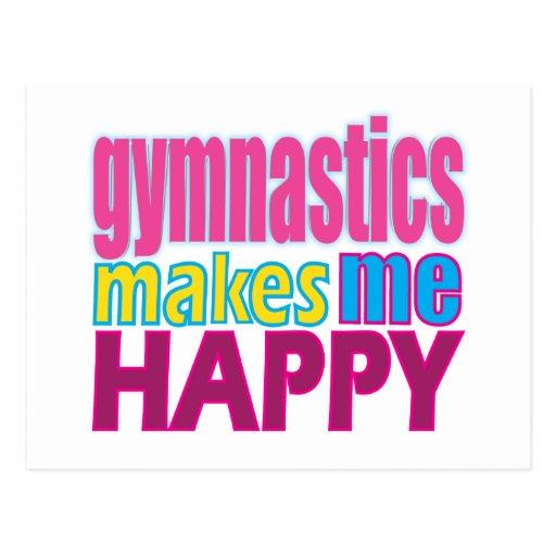 La gimnasia me hace feliz tarjetas postales