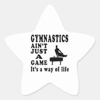 La gimnasia no es apenas un juego que es una pegatina en forma de estrella