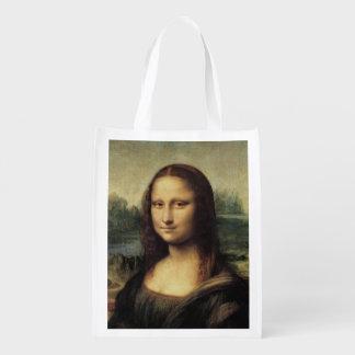 La Gioconda de Mona Lisa de Leonardo da Vinci Bolsa Reutilizable