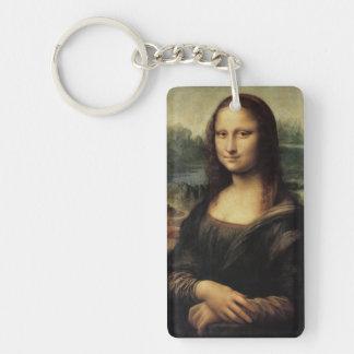 La Gioconda de Mona Lisa de Leonardo da Vinci Llavero Rectangular Acrílico A Doble Cara